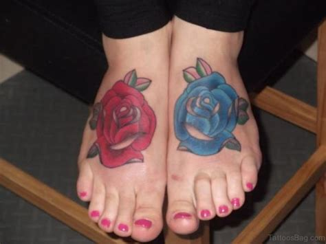 blue rose tattoo on foot 8 mind blowing blue tattoos on foot