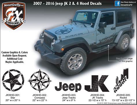 jeep hood decals jeep wrangler graphics wrangler stripes jk graphics