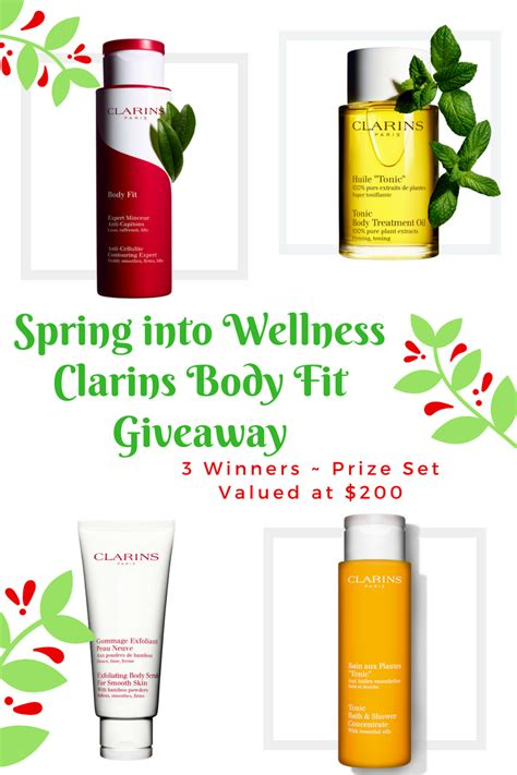 Spring Giveaway - spring into wellness with clarins body fit giveaway top