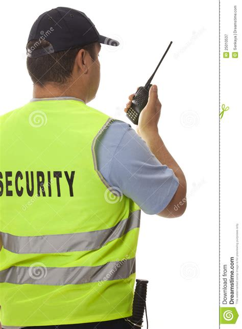 security guard stock image image of isolated background