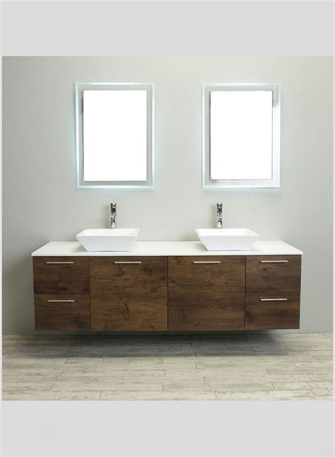 wall hanging bathroom vanity accanto contemporary wall mounted 72 inch rosewood
