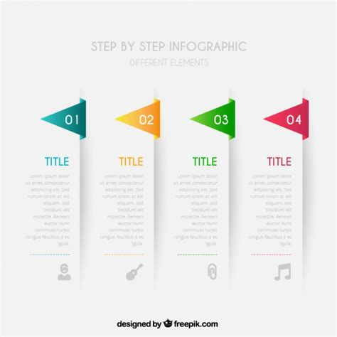 Step By Step Infographic Vector Free Download Step By Step Infographic Template