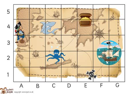 treasure map template ks1 s pet advanced independent co ordinates