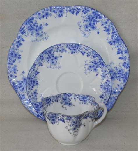 china pattern on blue bloods lovely vintage shelley china teacup trio dainty blue cup