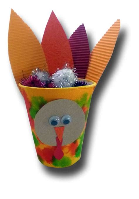 Paper Cup Turkey Craft - paper crafts for children 187 paper cup turkey