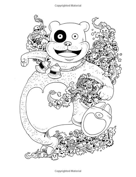 libro doodle invasion zifflins coloring doodle invasion coloring book free coloring pages