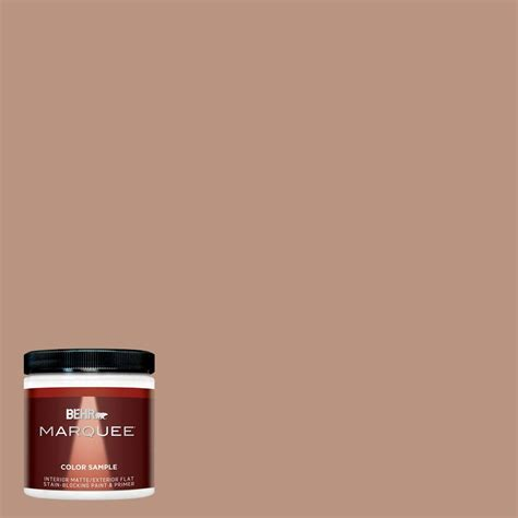 behr marquee 8 oz mq1 59 caramel interior exterior paint sle mq30416 the home depot