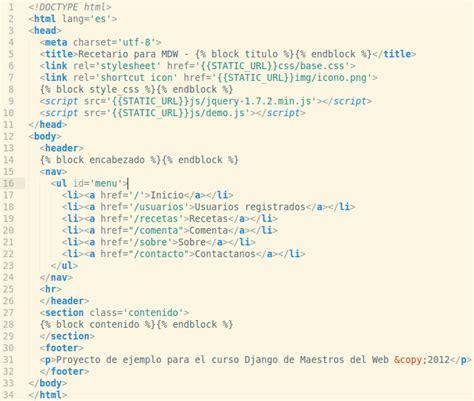 django tutorial base html curso django los archivos est 225 ticos