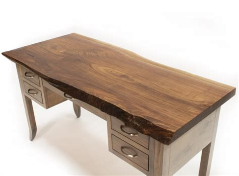 live edge desk with drawers walnut live edge writing desk country lane furniture