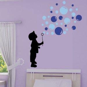 Sticker Silhouette Enfant souffleur de bulles de savon 3