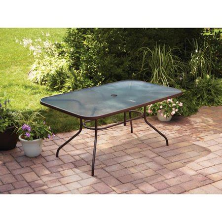 glass top outdoor dining table mainstays courtyard creations glass top outdoor dining