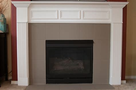 Painting Fireplace Tiles by Chalk Paint To Cover Marble Tile Fireplace Mantel