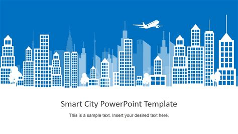 powerpoint templates urban design smart city background powerpoint building shapes slidemodel