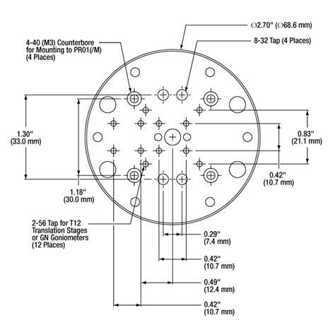 jersey hole pattern high precision rotation mount