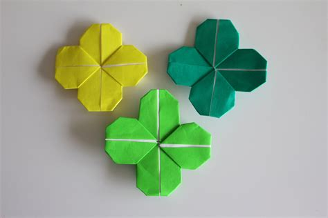 clover origami origami four leaf clover dollar bill choice image craft