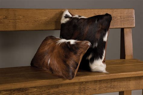cowhide seat cushions cowhide scatter cushion handcrafted by indigo furniture