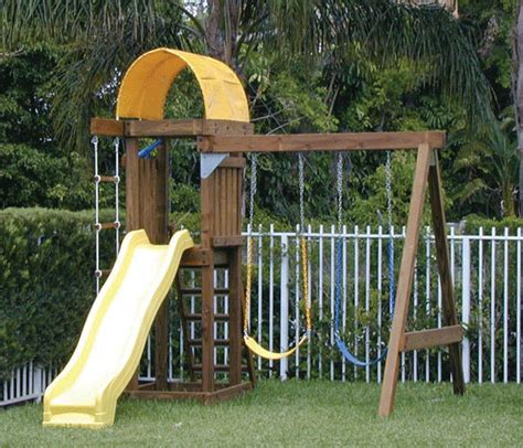 small backyard play structures swing sets on pinterest small yards wooden swings and