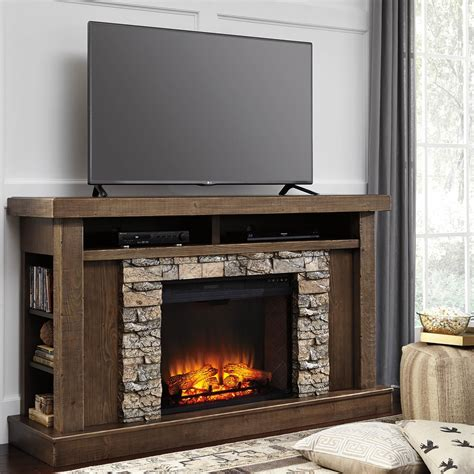 furniture fireplace signature design by tamilo tv stand with fireplace