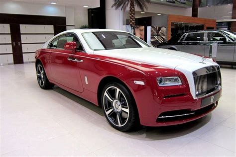 roll royce red rolls royce wraith in ensign red and english white gtspirit