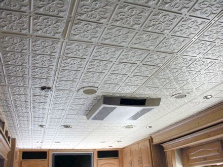Travel Trailer Ceiling Panels by Glue Up Ceiling Tiles Look Like Tin House Home