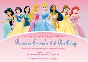 princess birthday invitations template free disney princess invitations template best template