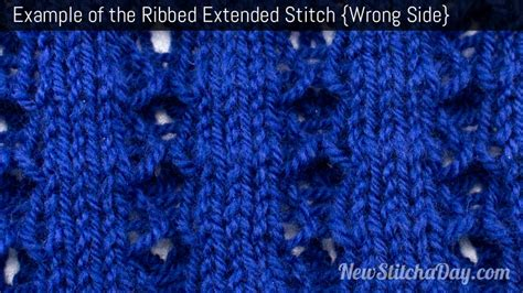 knitting wrong side row the ribbed extended stitch knitting stitch 193