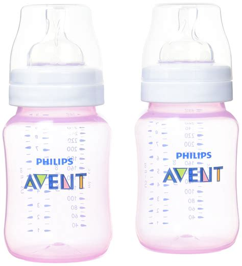 Baby Bottle 9oz philips avent classic pink baby bottle 260ml 9oz x 2 ebay