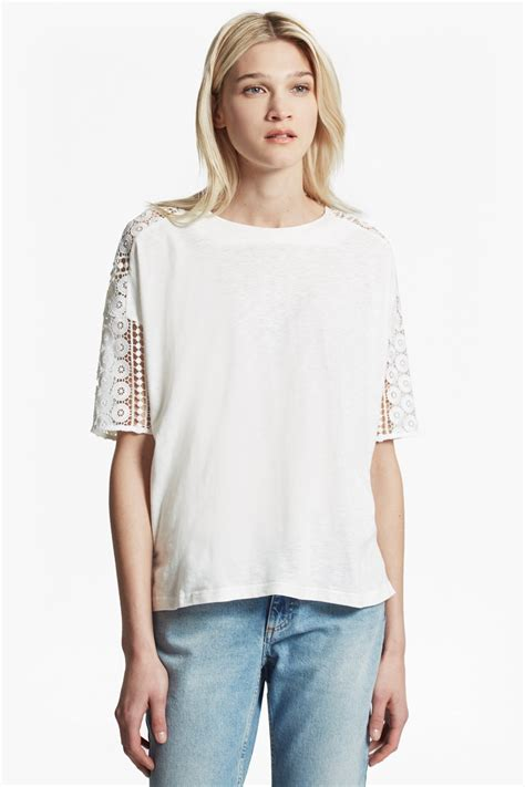 dune lace crochet oversized t shirt collections connection