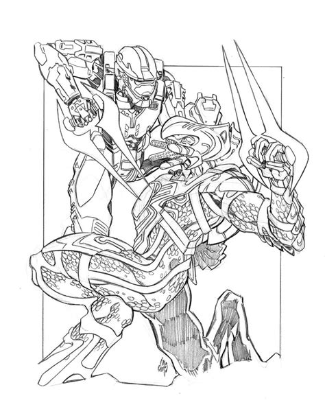 halo odst coloring sheets coloring pages