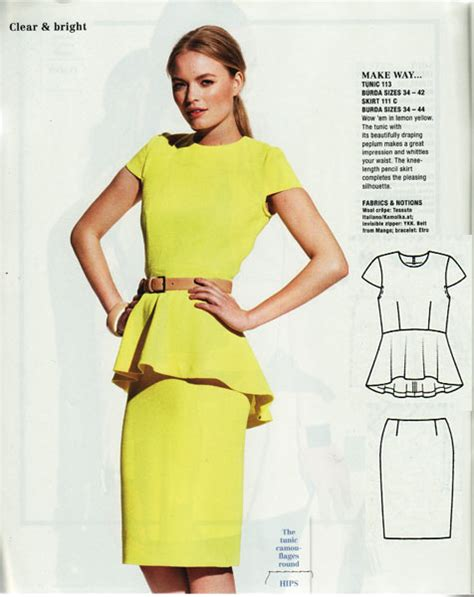 download pattern burda how to line the burda peplum top pattern available to