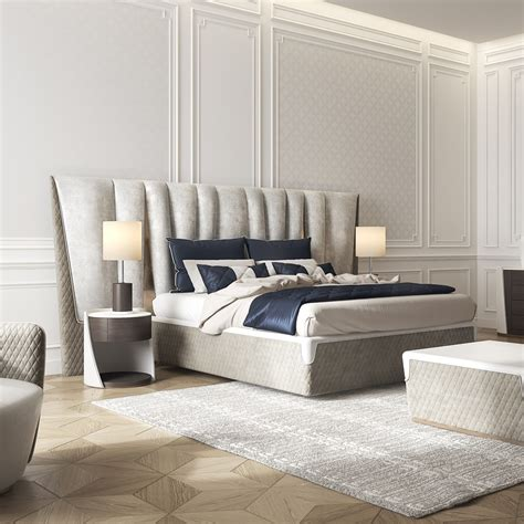 exclusive bedroom furniture exclusive modern italian upholstered leather bed