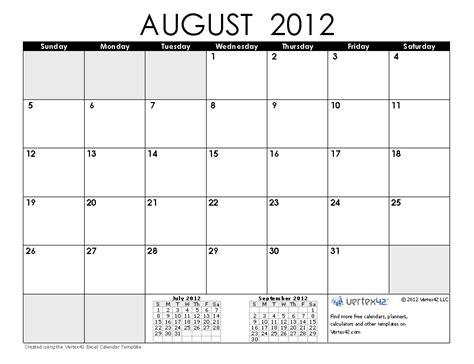 august 2012 calendar template free 2012 calendar images and 2012 calendar templates