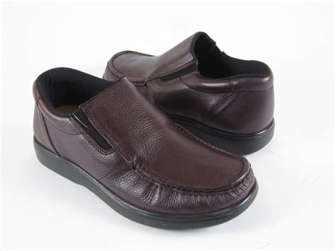 Comfortable Mens Walking Shoes by Mens Walking Loafer Casual Comfortable Brown Leather Shoes