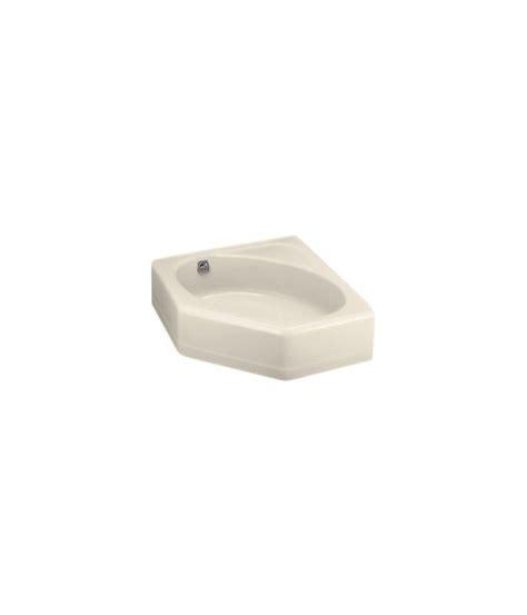 cast iron corner bathtub kohler k 821 47 almond mayflower collection 48 quot corner