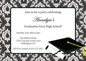 graduation invitation templates free best template collection