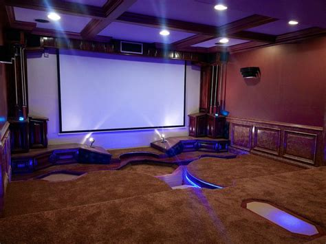 led home theatre lighting modern home theater st