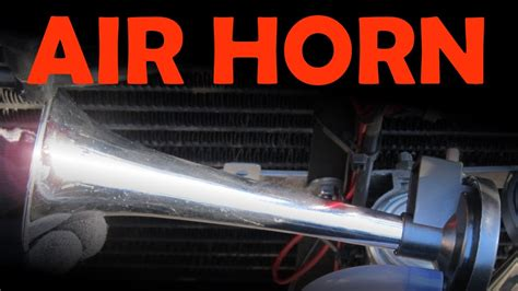 boat horn installation air horn installation youtube