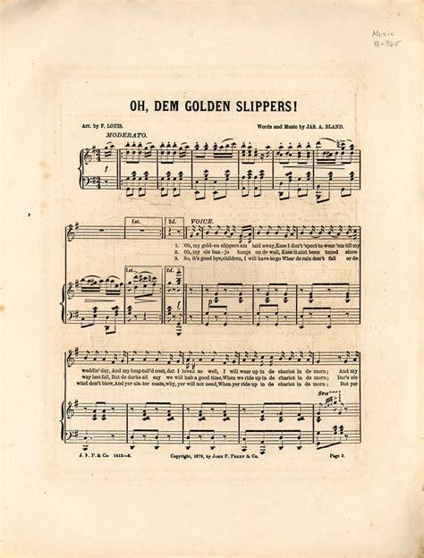 oh dem golden slippers oh dem golden slippers junglekey wiki