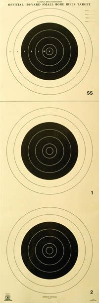 500 Yard Target Size by Small Bore Rifle Targets American Target Company