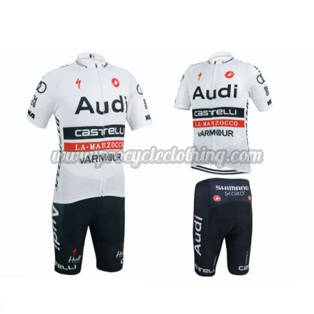 audi cycling 2015 team audi pro apparel cycle jersey and shorts