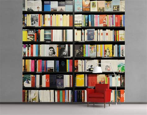 fleece wall mural book lover library bookshelf collection