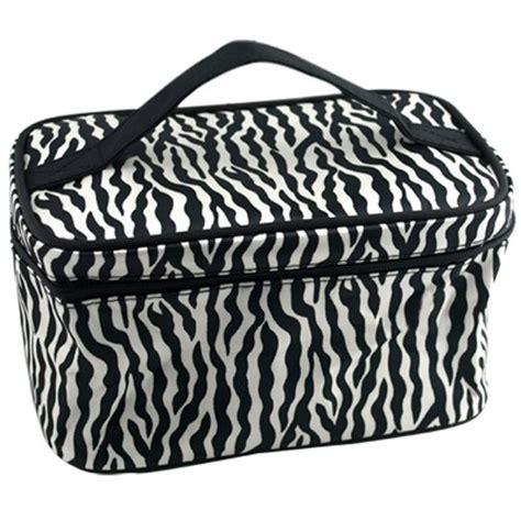 zebra pattern suitcase zebra pattern foldable makeup cosmetic hand case bag l6 ebay