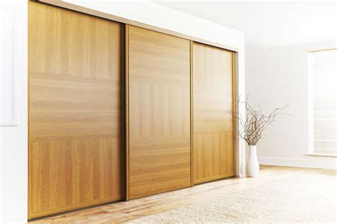Wood Sliding Door by Large Wooden Sliding Wardrobe Doors Homefurniture Org
