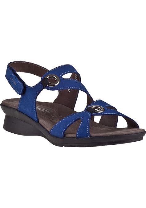 New Wedges Electric Blue Paling Murah lyst mephisto parfolia wedge sandal electric blue leather in black