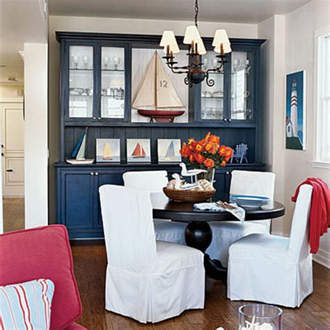Coastal Living Dining Room Ideas by Decorating With Color White And Blue