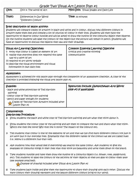 doe lesson plan template doe lesson plan template blank common lesson plan