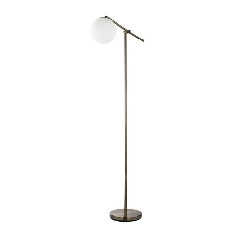 globe electric portland 65 in brass floor l with white
