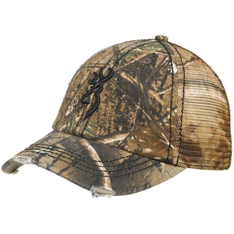 new browning bandit real tree slouch fit camo trucker