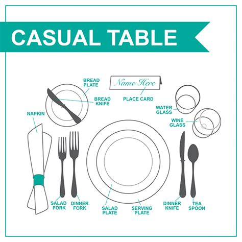 casual table setting how to set a casual table my web value