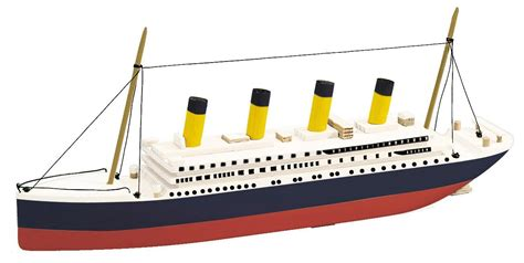 titanic toy boat that floats backyard and beyond basic boats titanic kit only 3 99